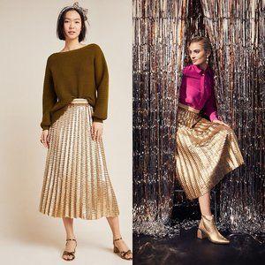 Dresses & Skirts - ANTHROPOLOGIE Maeve Natalia Sequined Midi Skirt 10